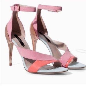Zara Pink Gold heels NEW